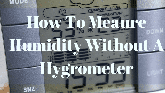How To Measure Humidity Without Hygrometer 3 Simple Ways