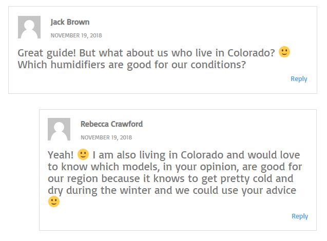 Best humidifier for colorado- reader comments