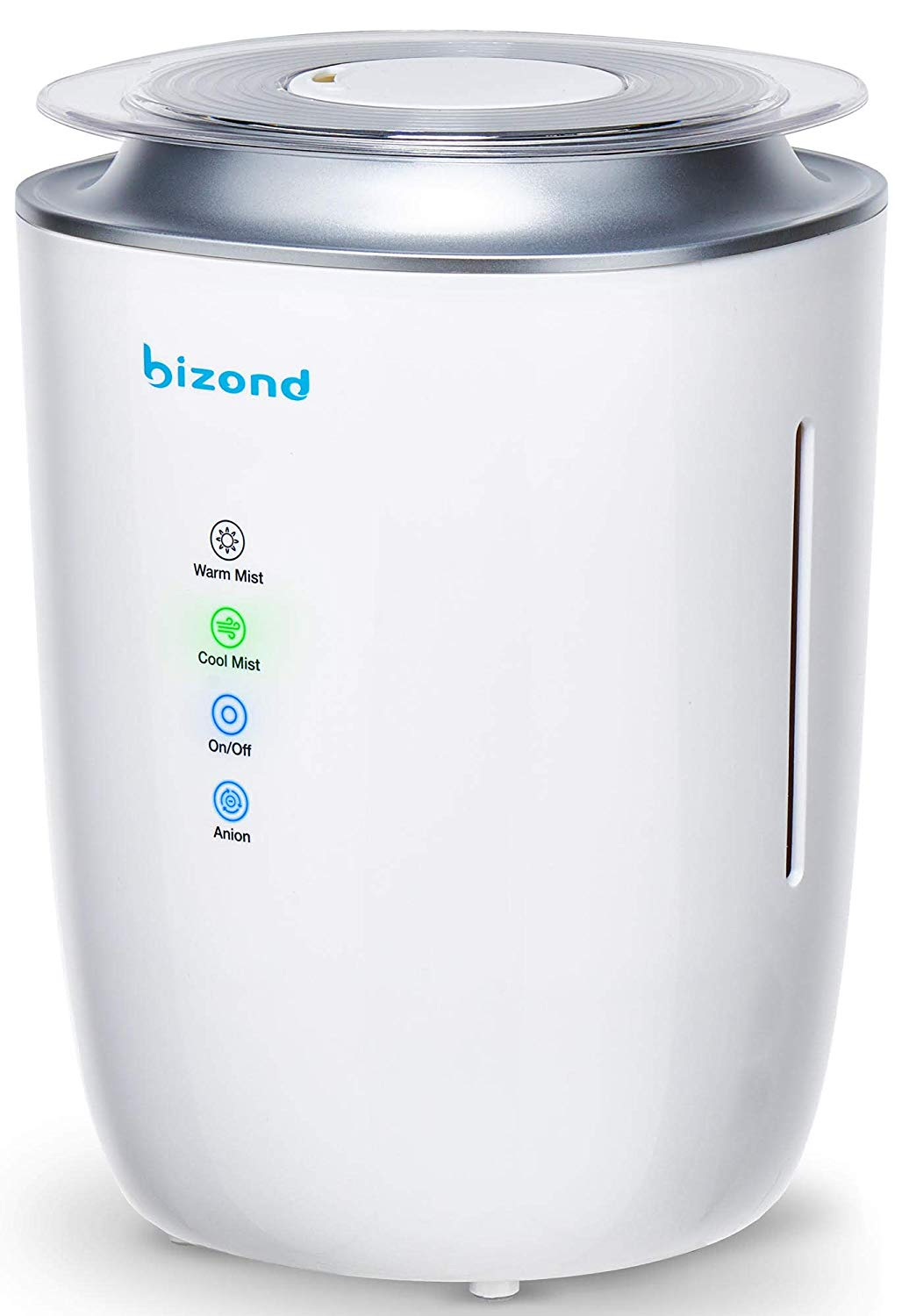 BIZOND Ultrasonic Warm and Cool Mist Humidifier - best humidifier for apartment