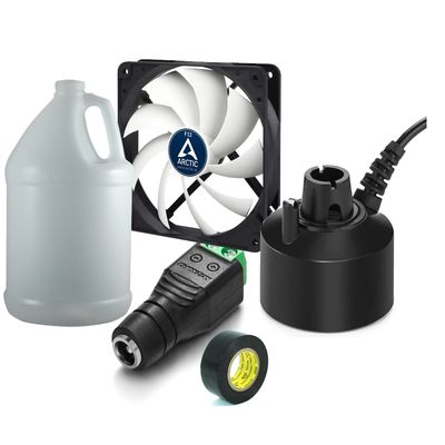 materials for DIY humidifier with a fan