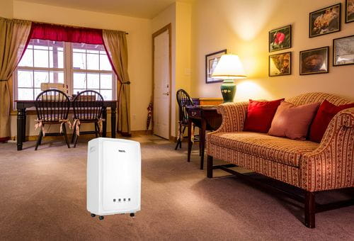 where to place the dehumidifier when drying