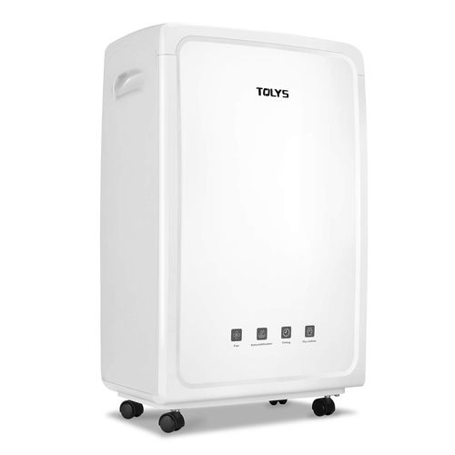 TOLYS 70 Pint Portable Dehumidifier - Large Capacity Home Dehumidifier - 4000Sq Feet Coverage - Practical and Ergonomic - Fan Wheels and Automatic Drainage