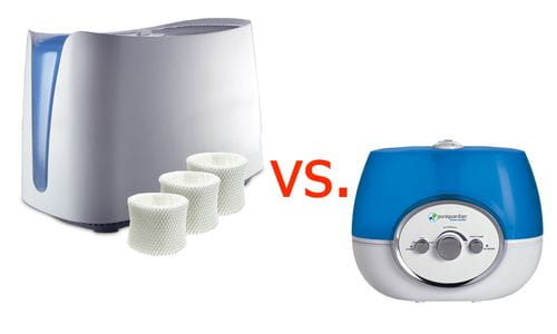 humidifier with filter vs without filter