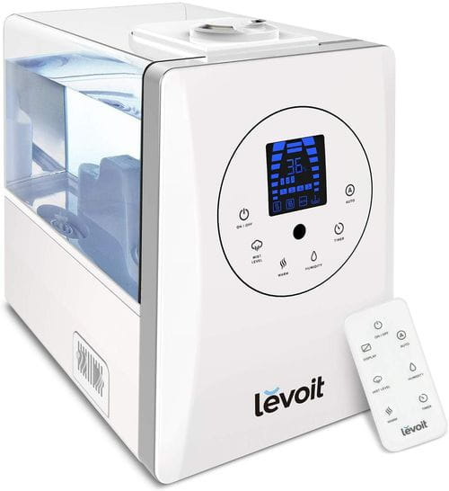 LEVOIT Humidifiers for Large Room Bedroom (6L), Warm and Cool Mist Ultrasonic Air Humidifier for Home Whole House Babies Room, Customized Humidity, Remote, Germ-Free and Whisper-Quiet