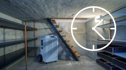 run a dehumidifier in basement